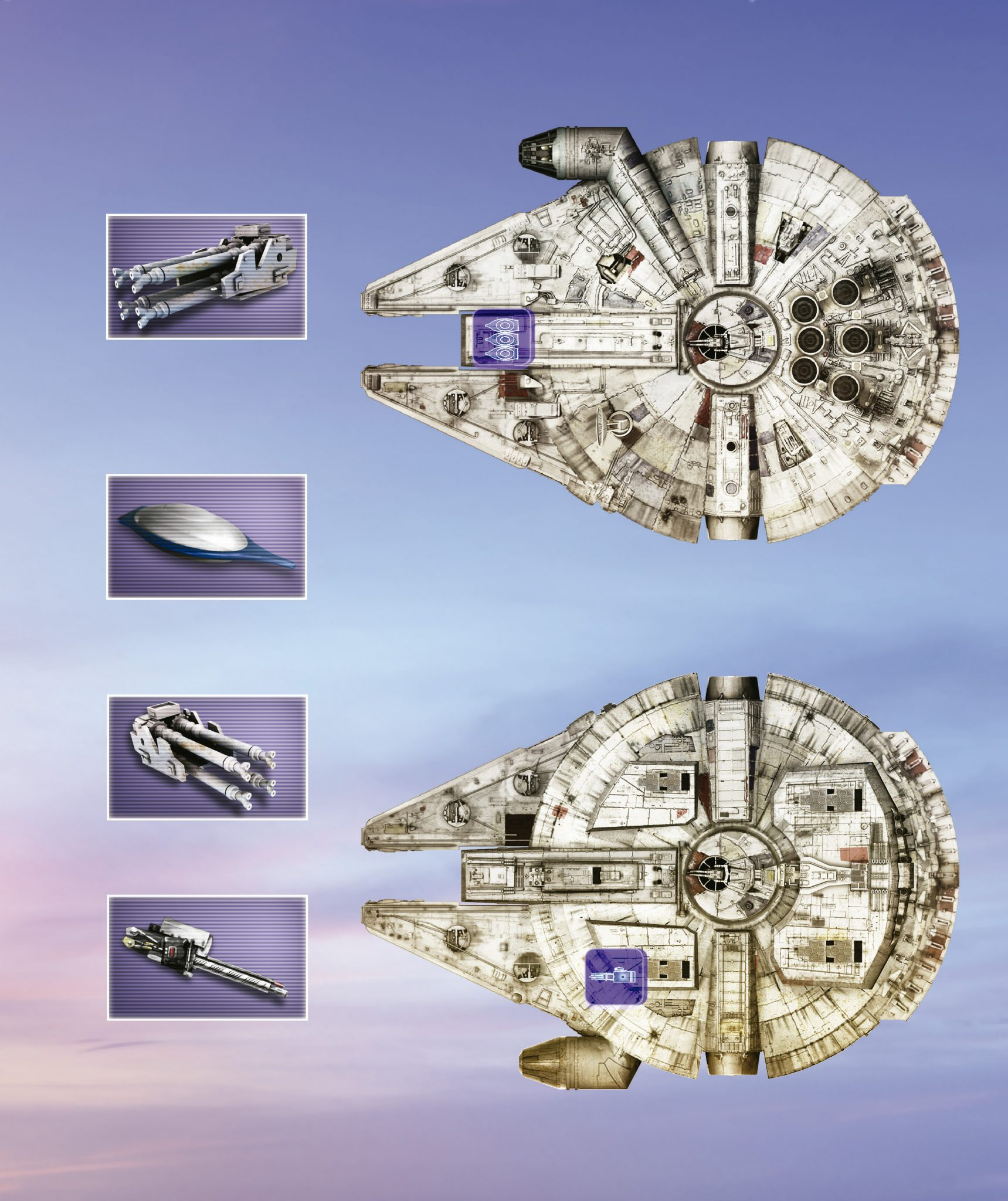 camucada STAR WARS millenium falcon arsenal
